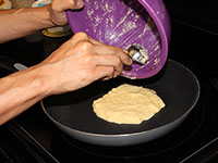 ULC Almond Flour Pancakes Recipe Step 6: Pour batter